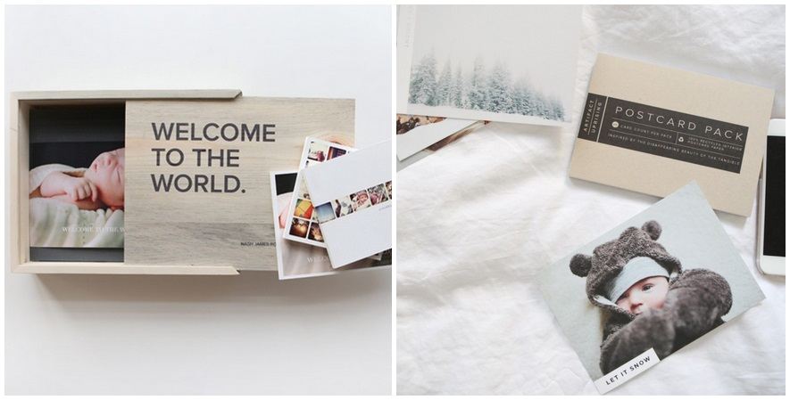 Wooden Box and Postcards_newborn-horz